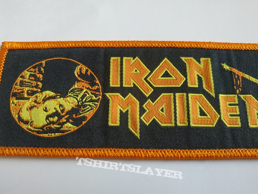 """Iron Maiden woven """"Sancuary"""" strip patch"""