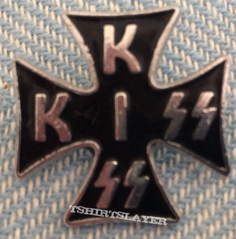 Kiss Iron Cross Pin