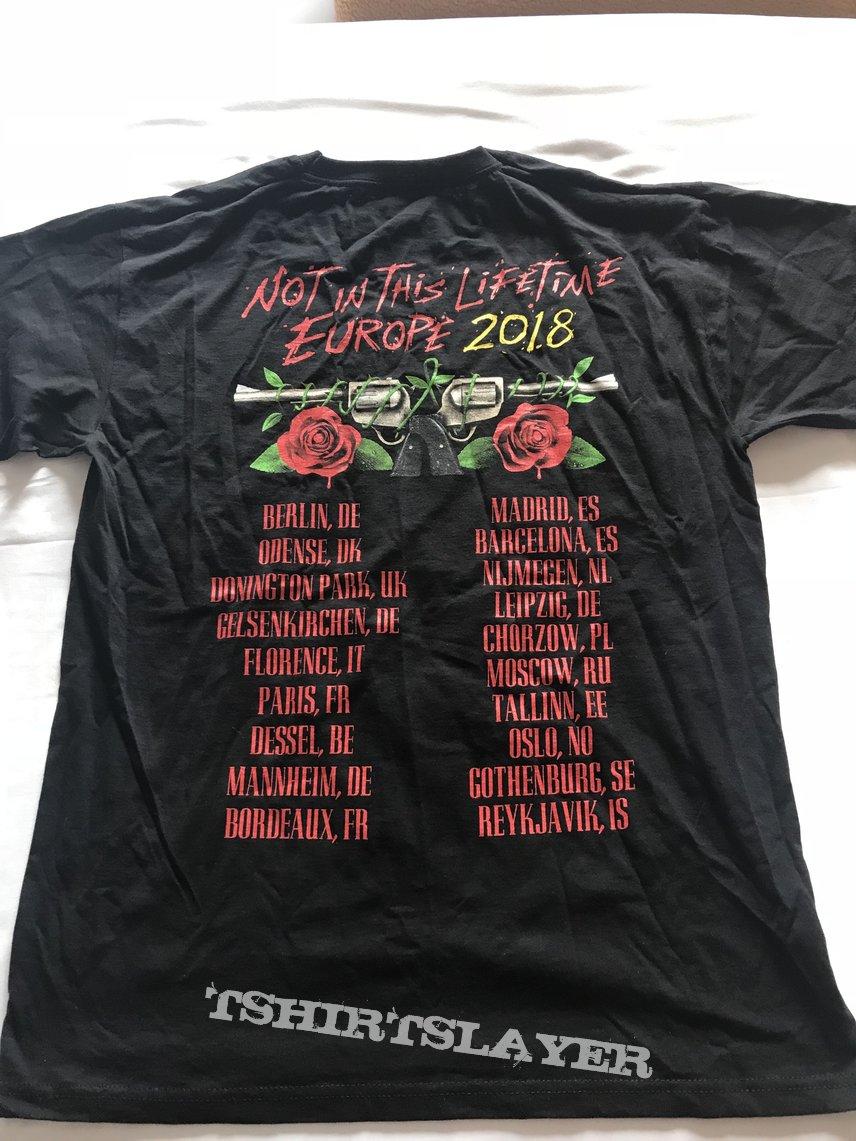 Guns N' Roses - Not In This Lifetime European tour 2018 shirt
