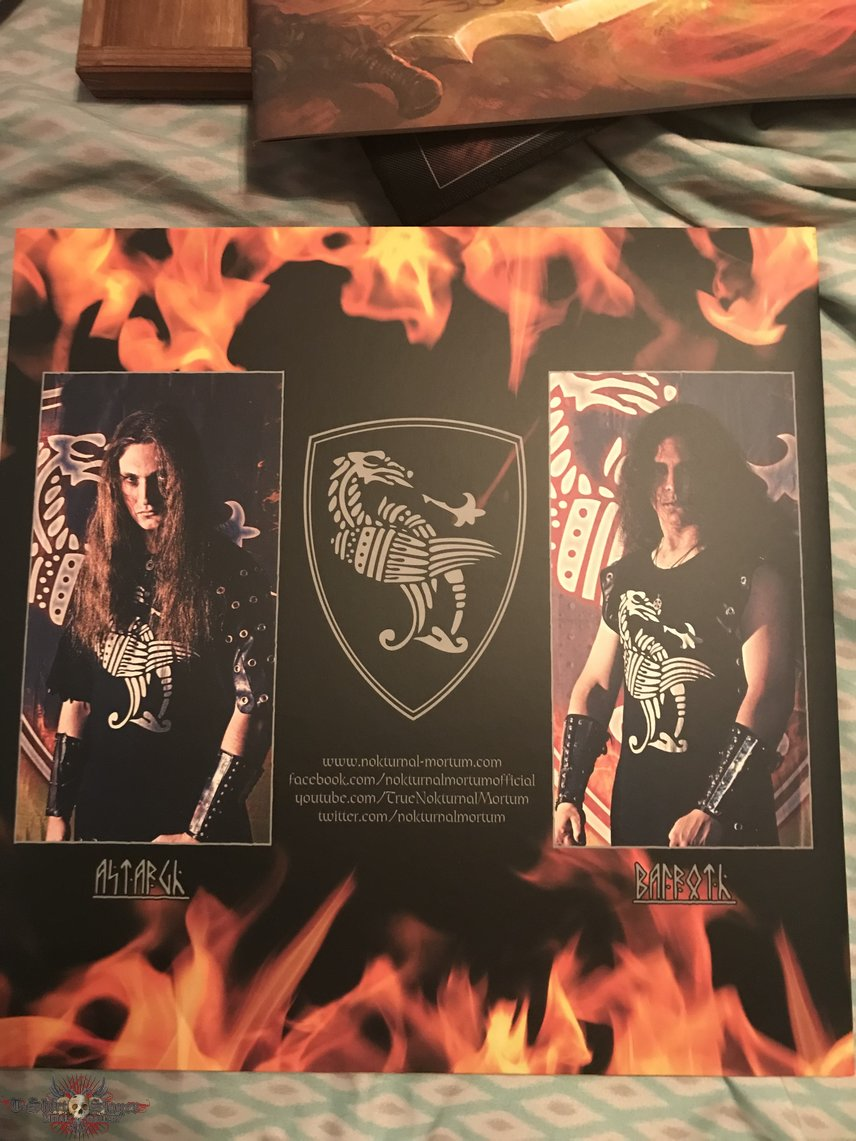 Nokturnal Mortum - The Voice of Steel 3LP wooden box marbled