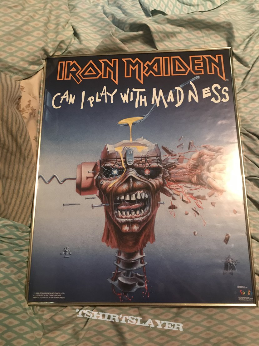 Iron Maiden - Can I Play With Madness framed poster