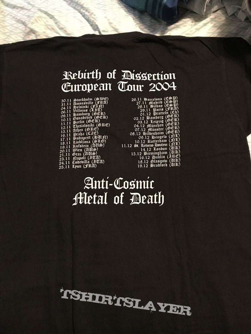 Dissection - Rebirth of Dissection European tour 2004 shirt