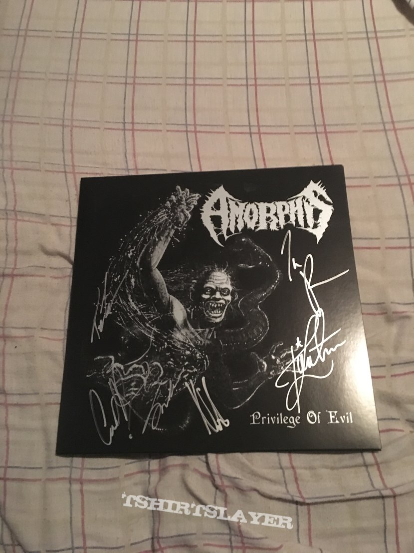 Amorphis - Privilege of Evil LP signed by the band
