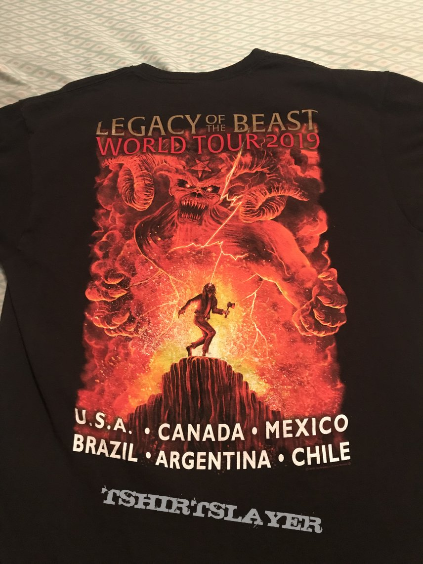 Iron Maiden - Legacy of the Beast North/South American tour 2019 shirt