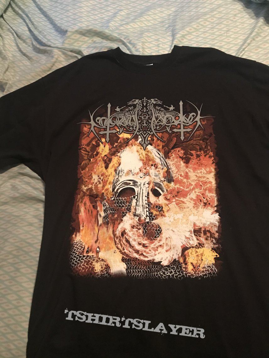 Nokturnal Mortum - Helmet In Flames shirt