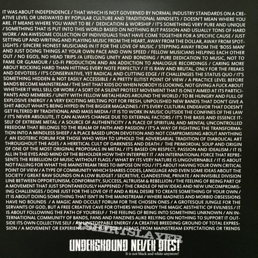Various-Underground Never Dies (Book + Vinyl)