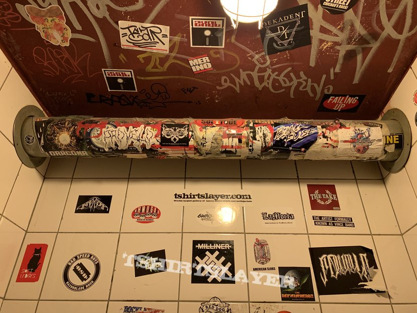 TShirtSlayer sticker placement in the Cave (Amsterdam)