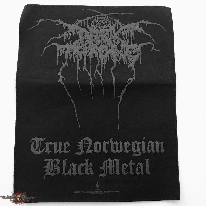 Darkthrone 2003 TNBM logo and text back patch