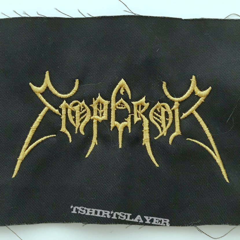 Emperor small embroidered gold logo patch