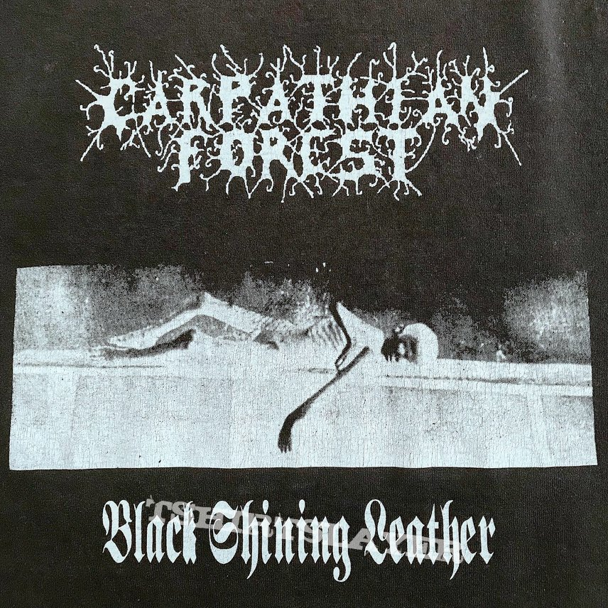 Carpathian Forest 1998 Black Shining Leather longsleeve Shirt