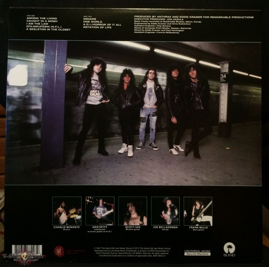 Anthrax: Among the Living Vinyl