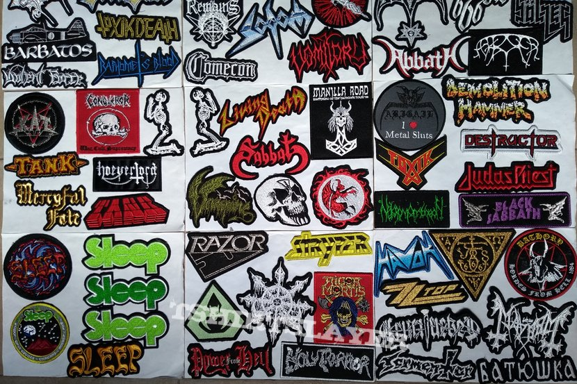 Small Logo Embroidered Shaped Patches