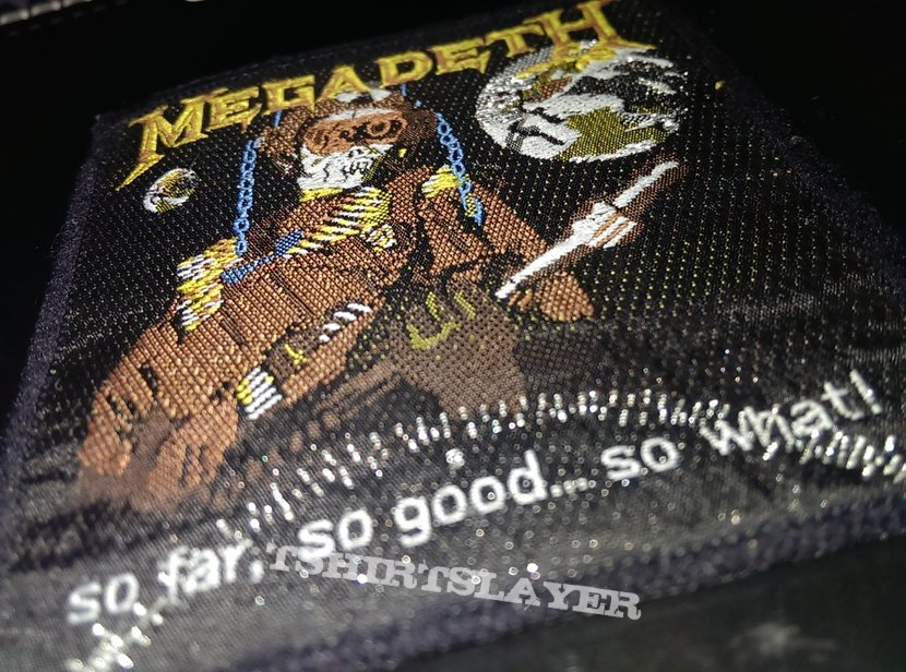 Megadeth So far,so good ,so what patch