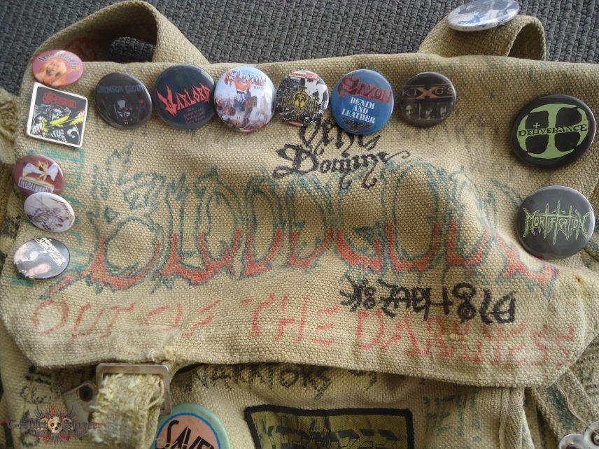 My metal badges and bag