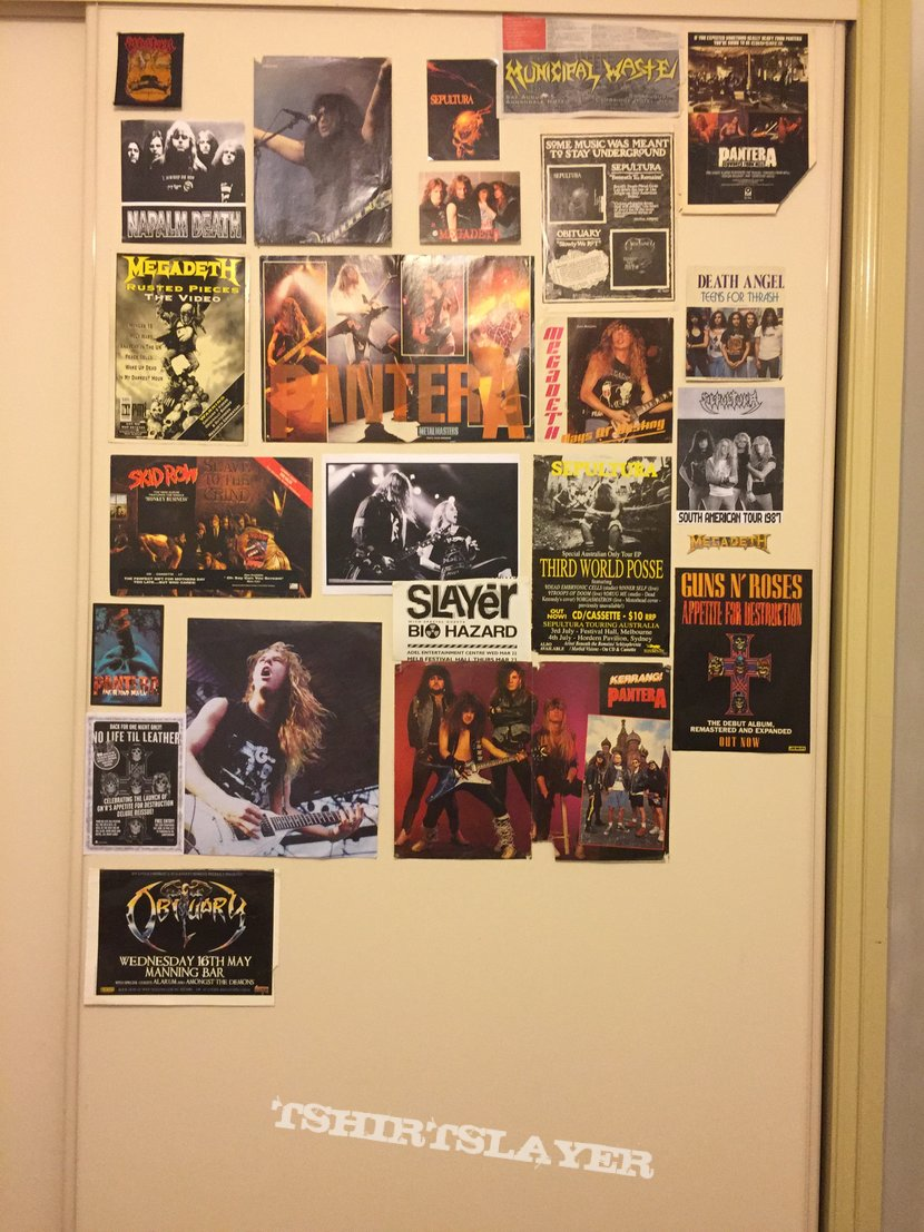 New metal poster wall