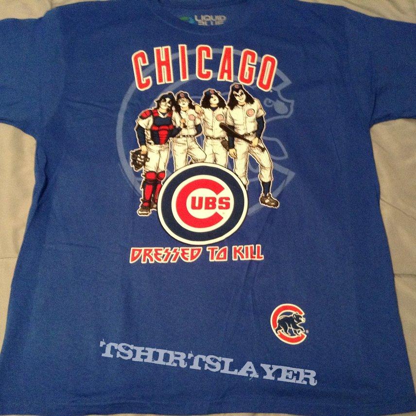 e058fd62755 KISS - Dressed to Kill Chicago Cubs shirt