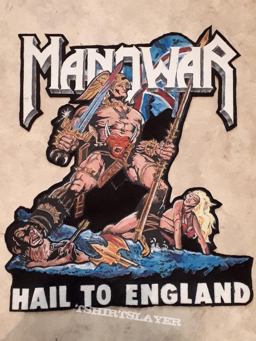 Manowar - Hail To England Diy backpatch