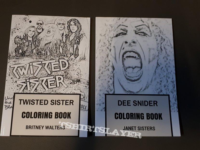 Twisted Sister colouring books