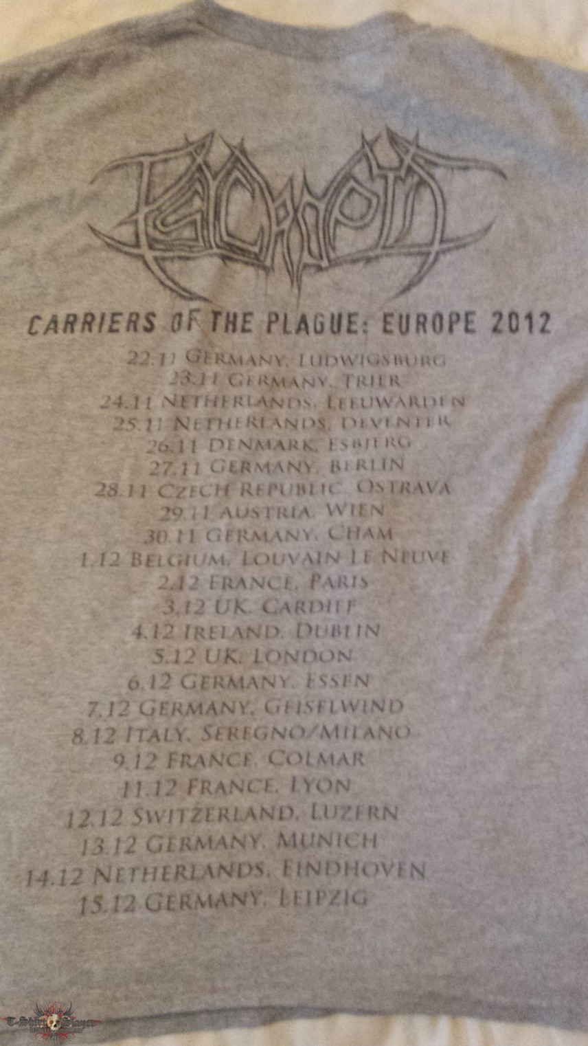 psycroptic tour shirt  2012
