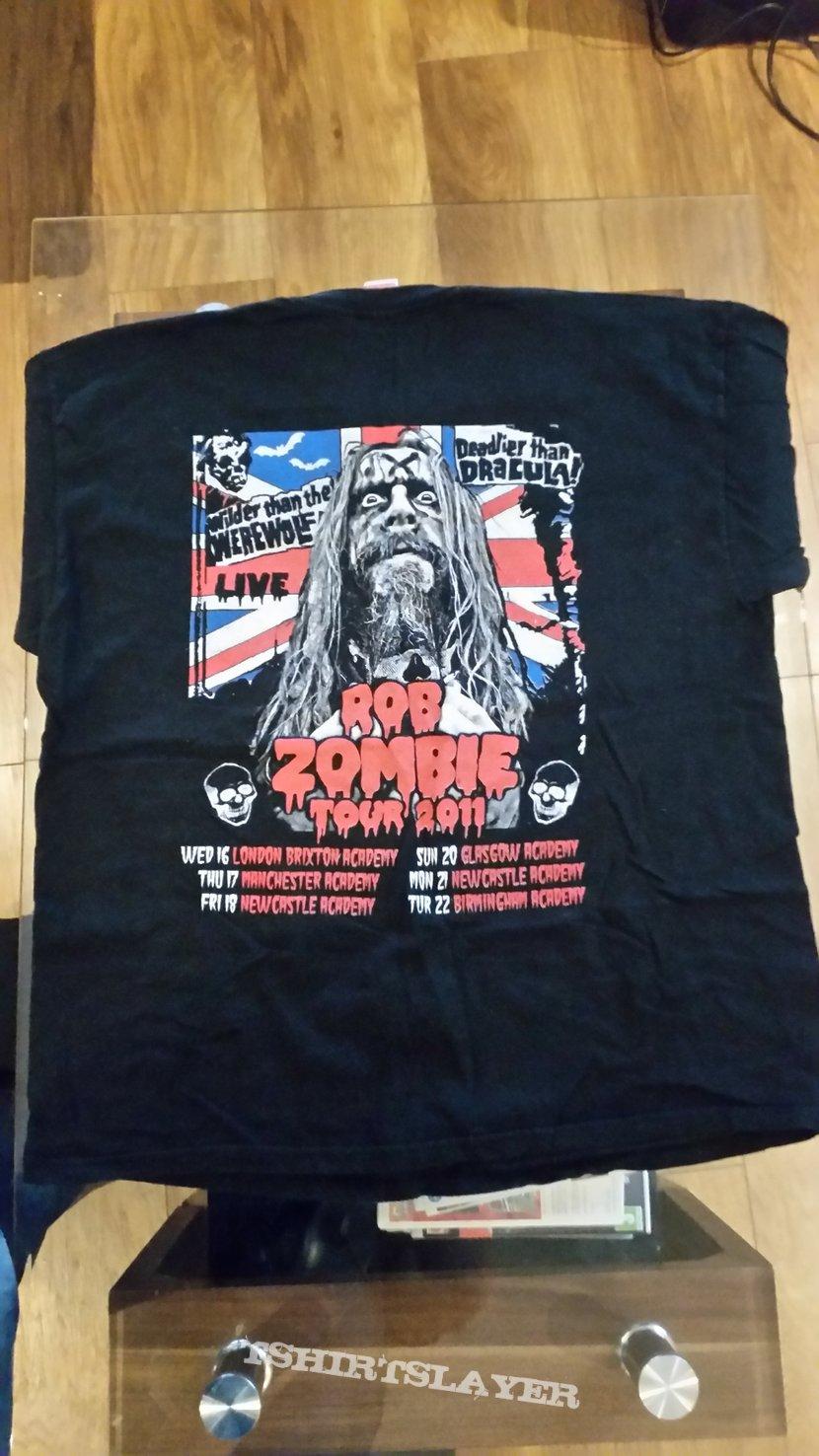 rob zombie bootleg tour shirt