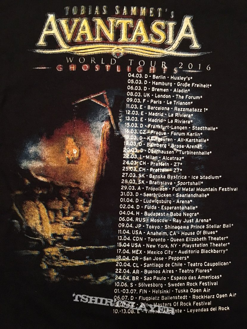 "Avantasia ""The Metal Opera/Ghostlights World Tour"" Kids T-Shirt"