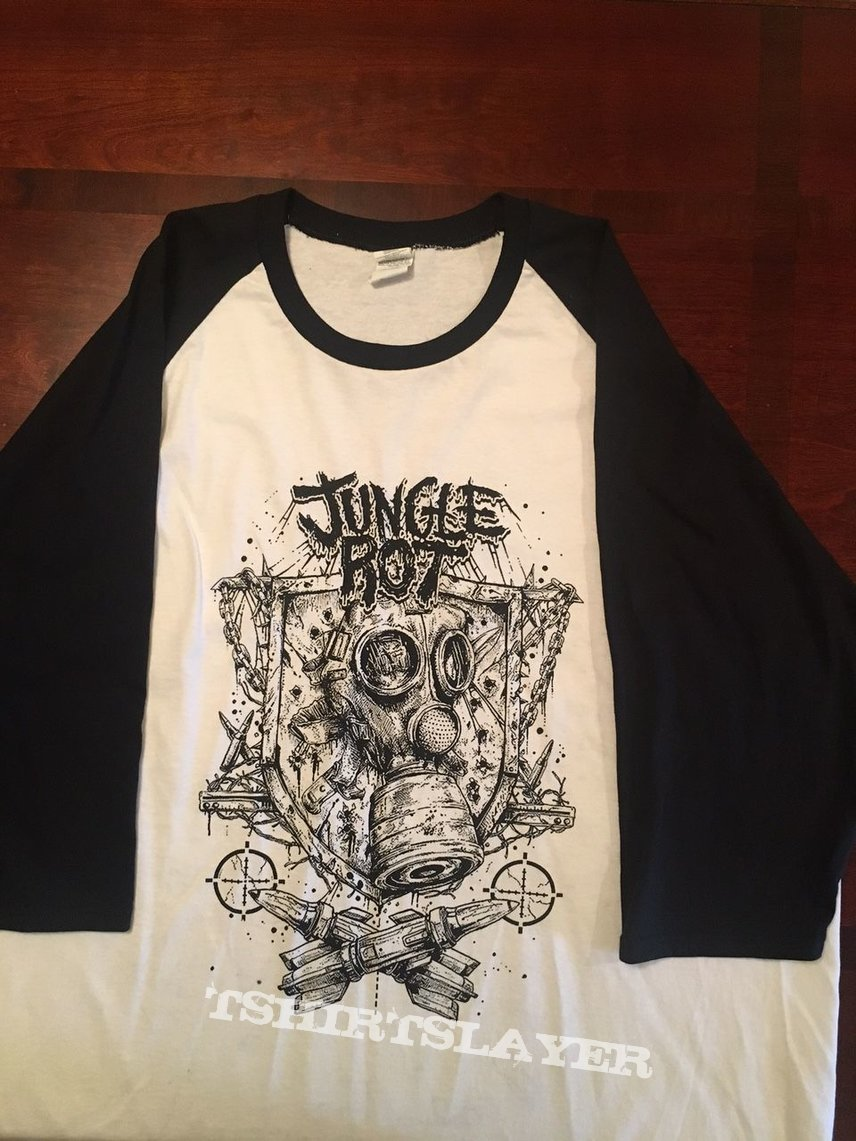 """Jungle Rot """"North America Under Attack"""" Raglan Signed By Entire Tour Package"""