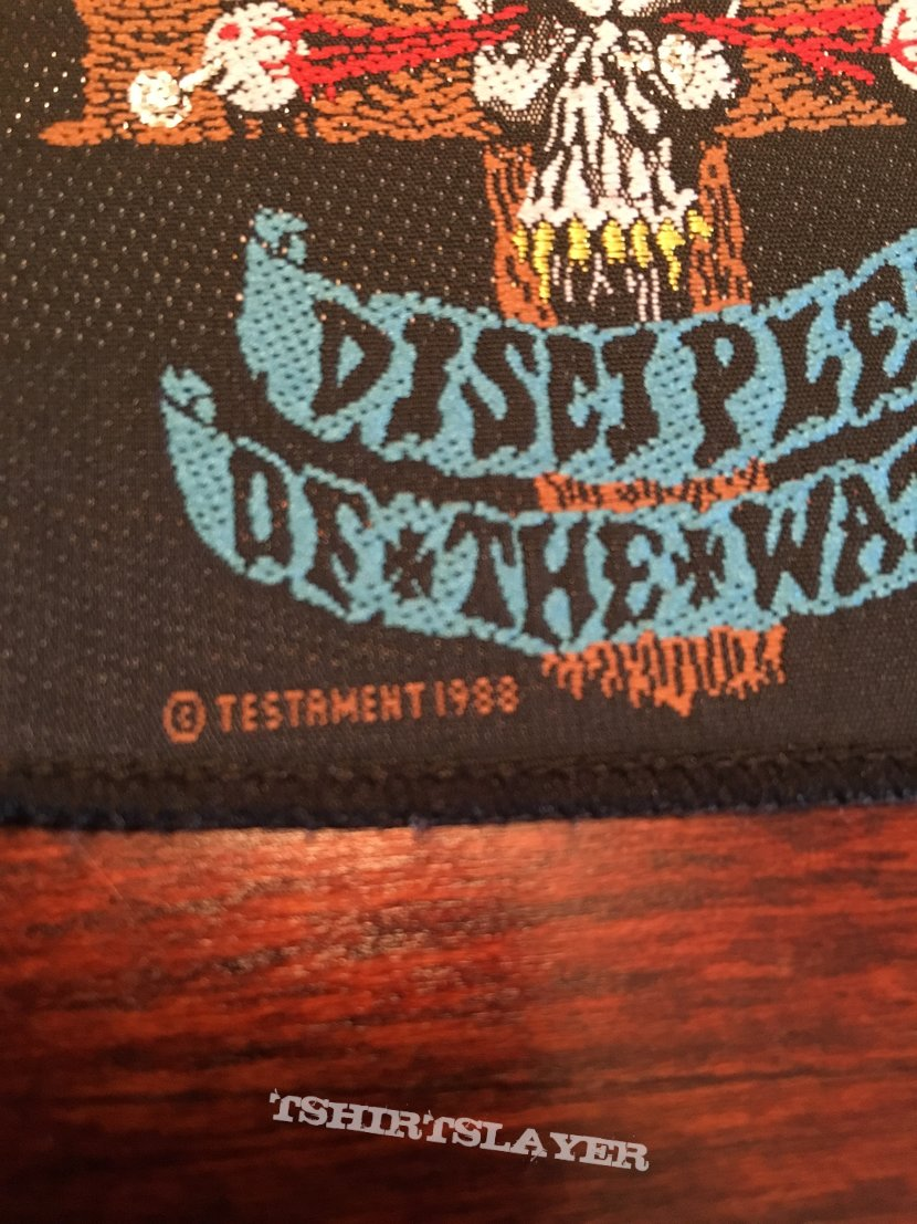 """Testament """"Disciples OF The Watch"""" Patch"""