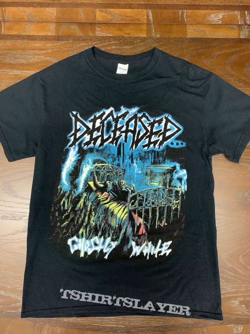 """Deceased """"Ghostly White"""" T-Shirt"""