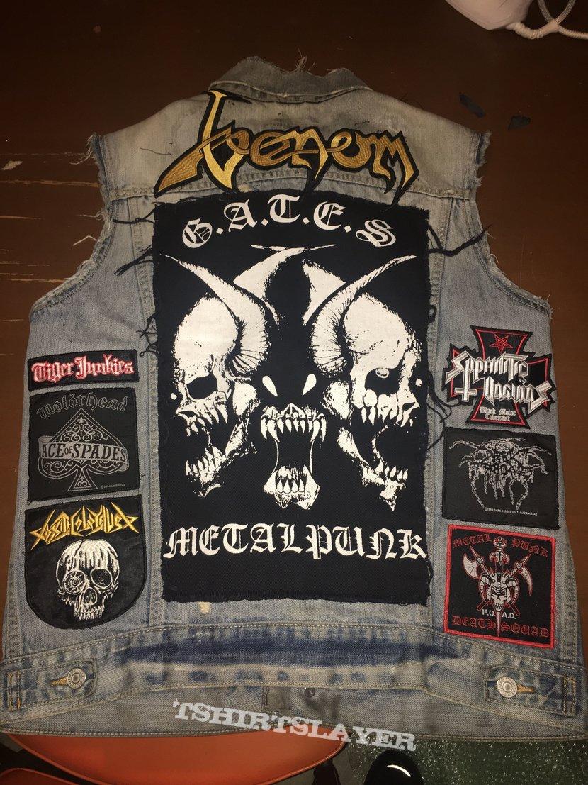 metal punk battle jacket close to finished....