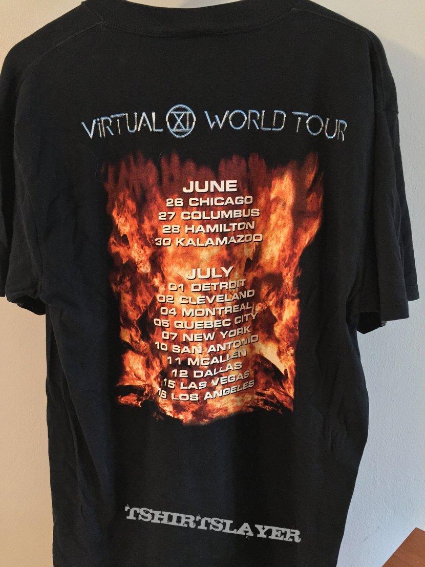 Iron Maiden Virtual XI RARE Tour Shirt 1998 XL