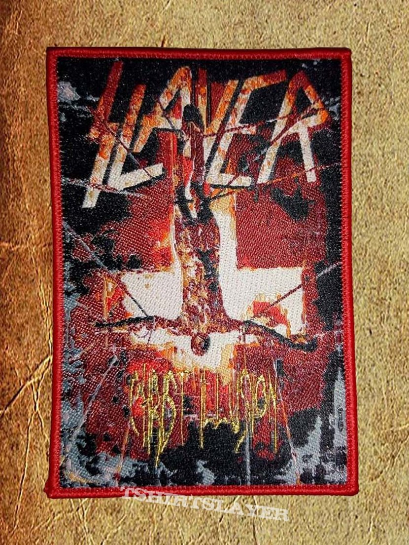 Slayer 'Christ Illusion' Red Border Woven Patch