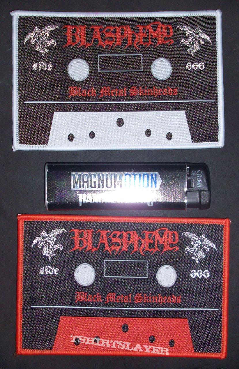 BLASPHEMY 'Black Metal Skinheads' Woven Patches