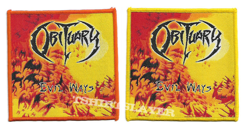 "Obituary ""Evil Ways"" Woven Patches"