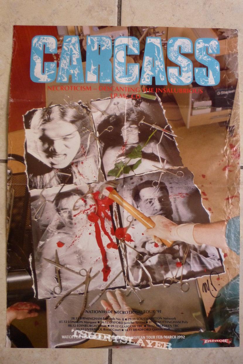CARCASS - 1992 Earache Promo Poster Necroticism: Descanting the Insalubrious