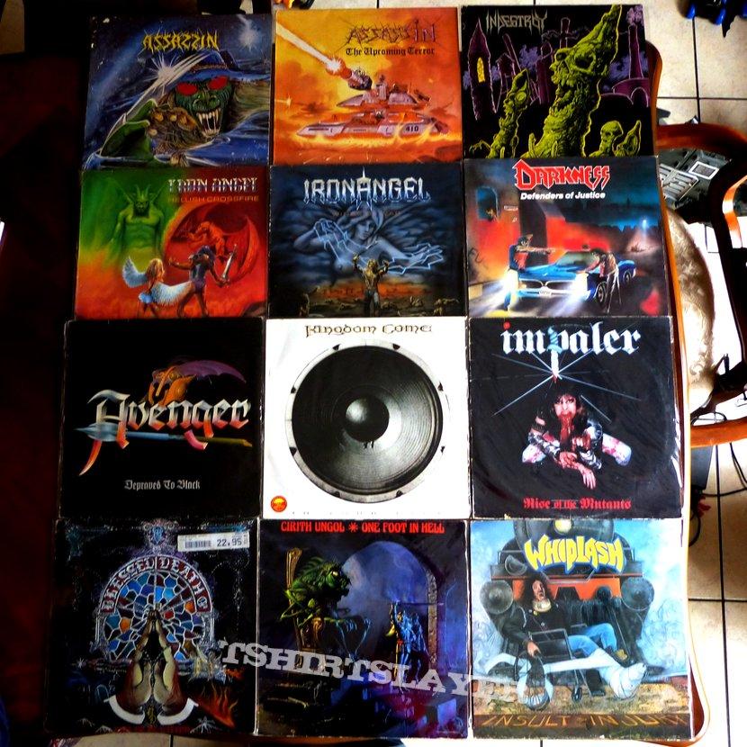 Vinyls Assassin, Indestroy, Iron Angel, Darkness, Avenger, Impaler, Blessed Death, Whiplash