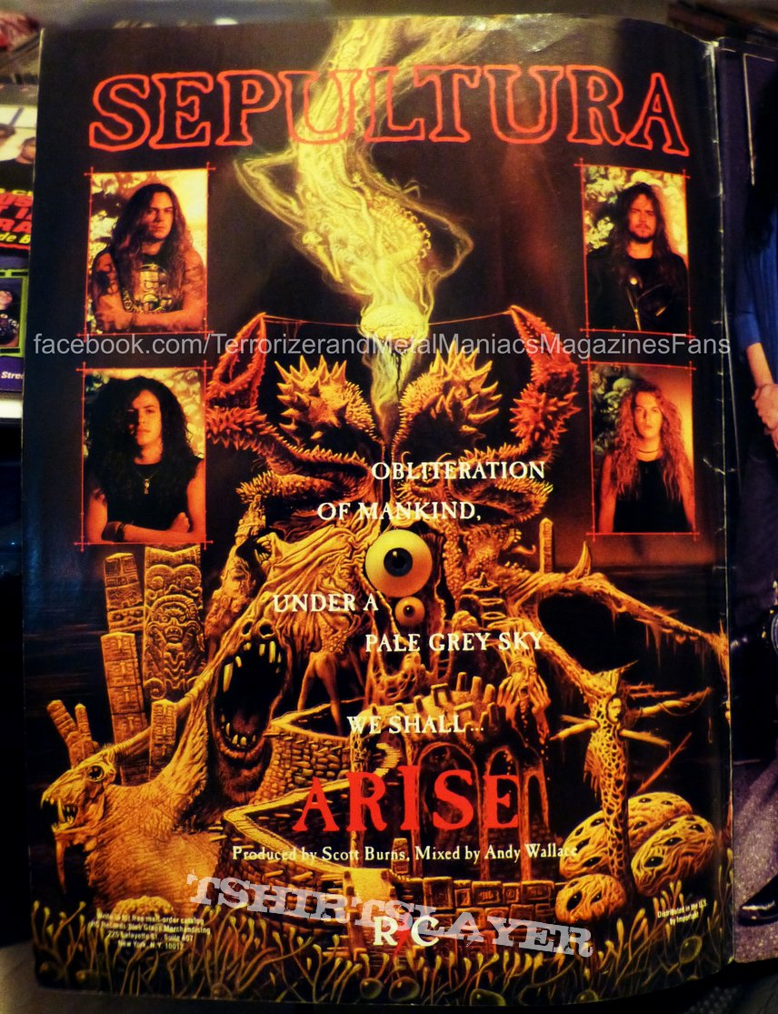 "Sepultura - Arise ""Third World Posee"" 1992 Tour Original & Collection"