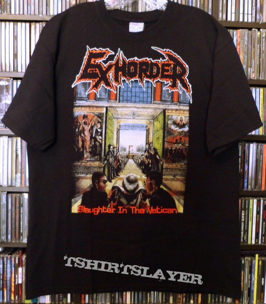"EXHORDER ""Slaughter in the Vatican"" Black T Shirt All Sizes Metal"