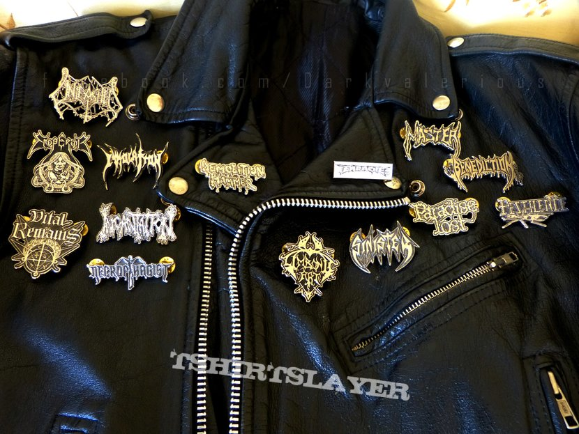 Classic Leather Jacket With Pins 1995