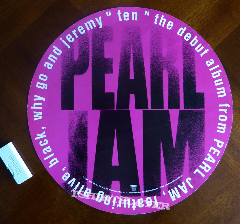 Pearl Jam - Ten 1991 Advertising Poster