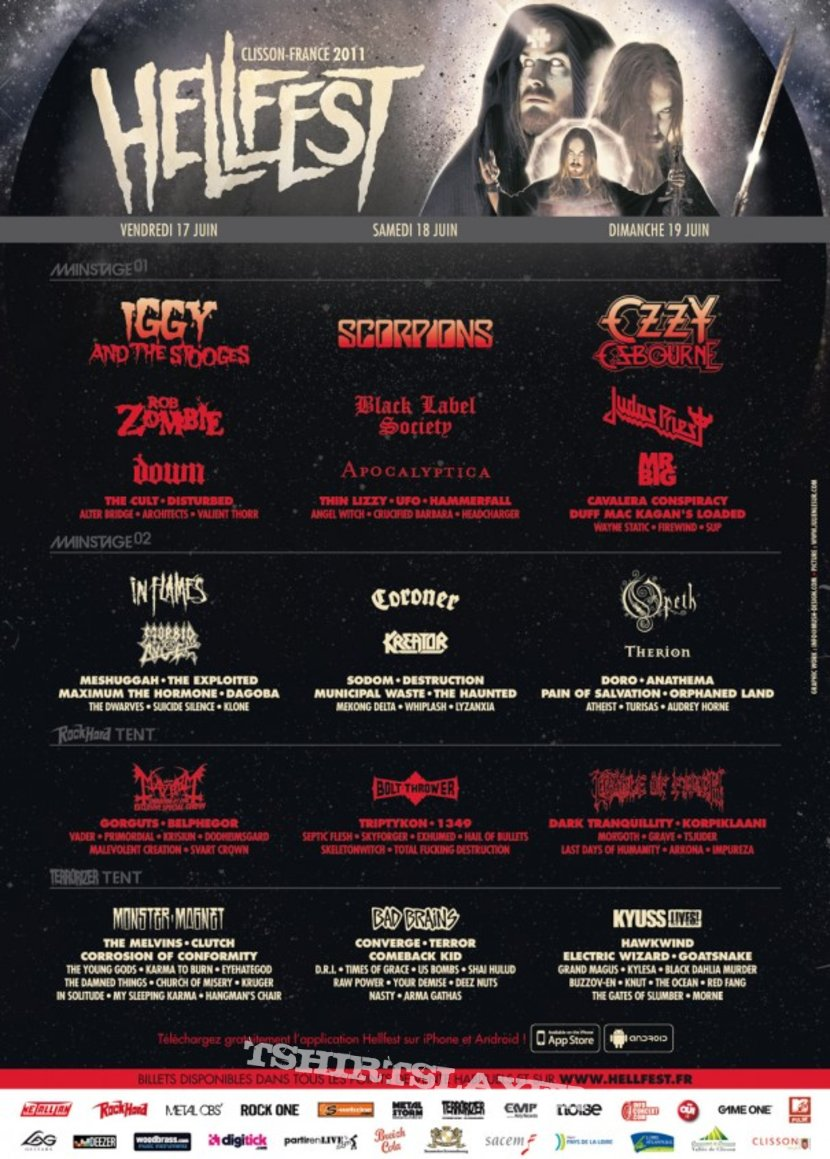 HammerFall - Postcard with Autographs Hellfest 2011