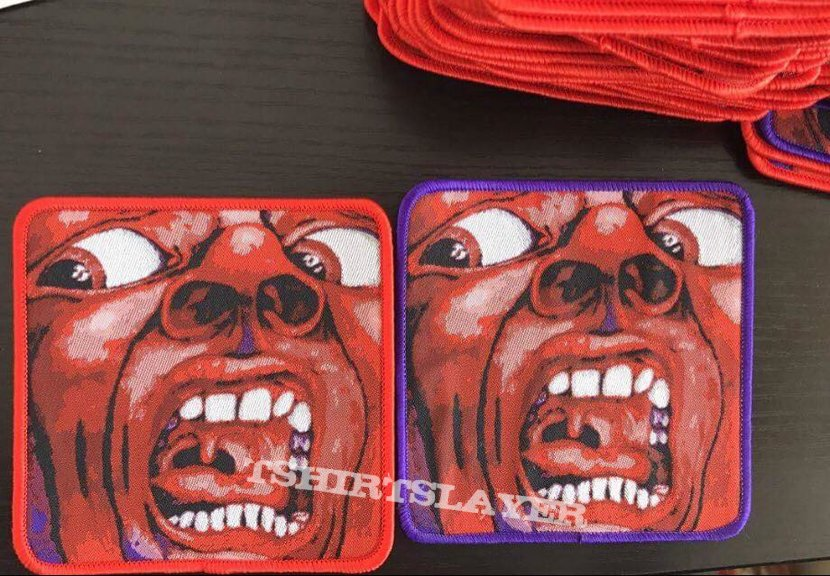 """King Crimson """"In The Court Of The Crimson King"""" woven patches"""