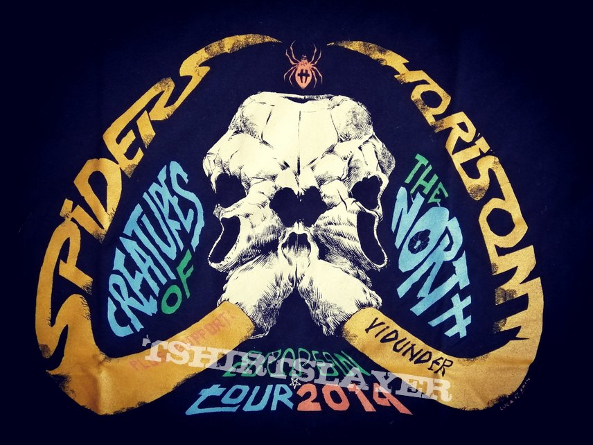 Horisont/Spiders/Vidunder - Creatures Of The North European Tour Shirt 2014
