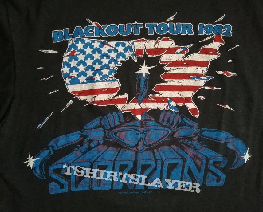 Scorpions Blackout America Tour Shirt 1982