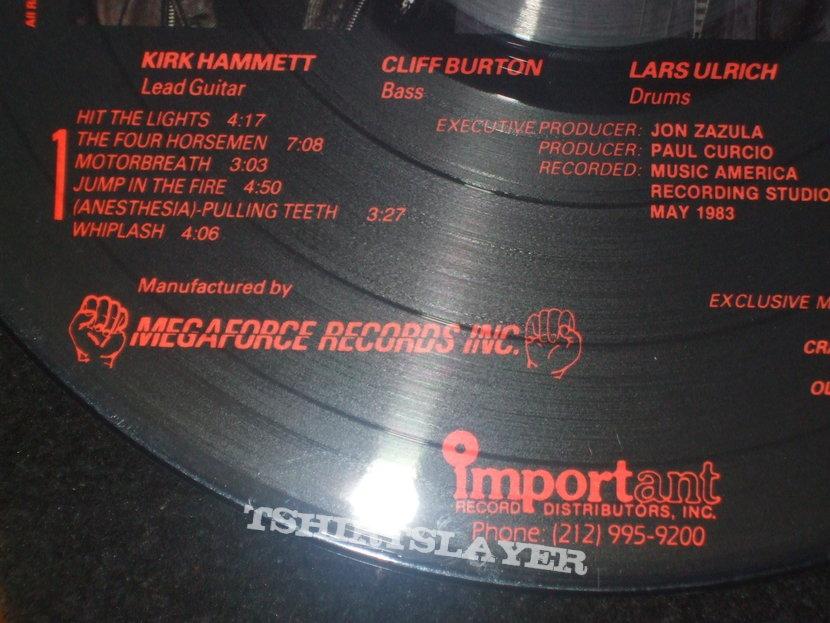 Metallica Kill Em All Original 1983 Megaforce Records