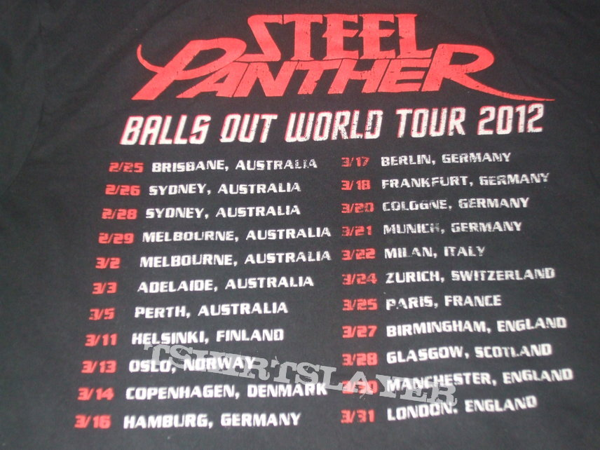 The Steel panther balls out right! like