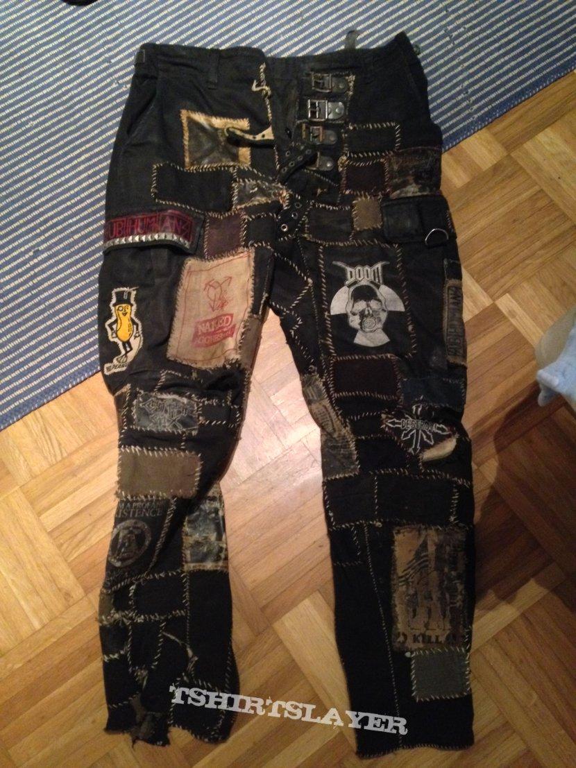 Anarcho-punk combat pants