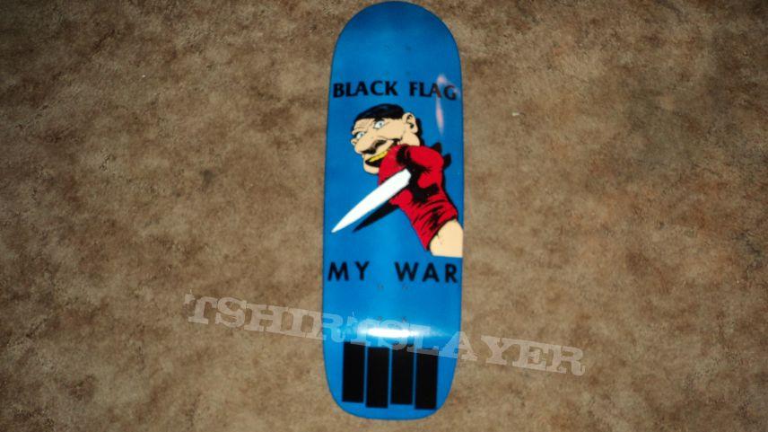 Black Flag My War SST Records Elephant Brand Skateboard