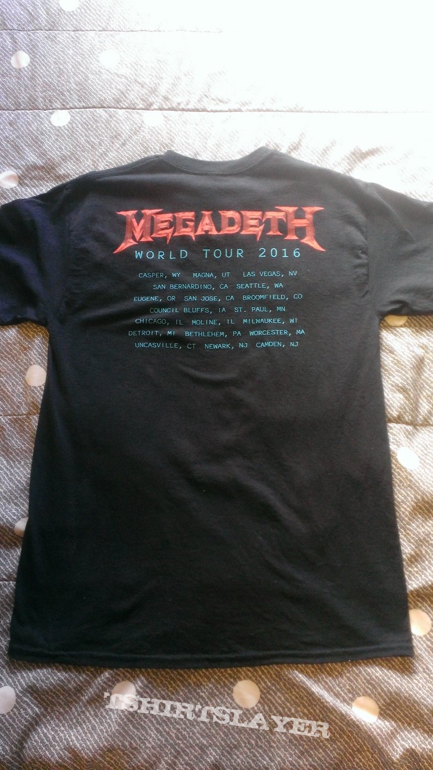 Megadeth: VIsual Prowess/World Tour 2016 shirt