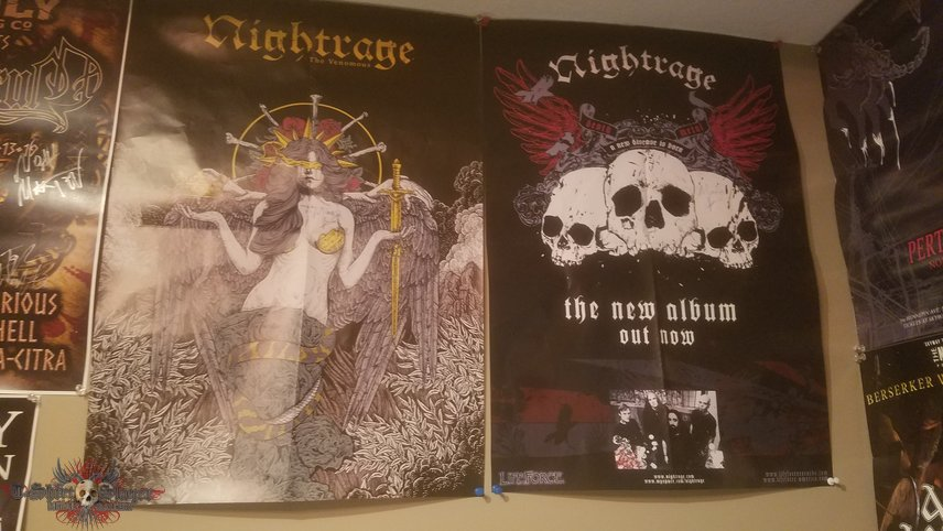 Autographed Nightrage posters