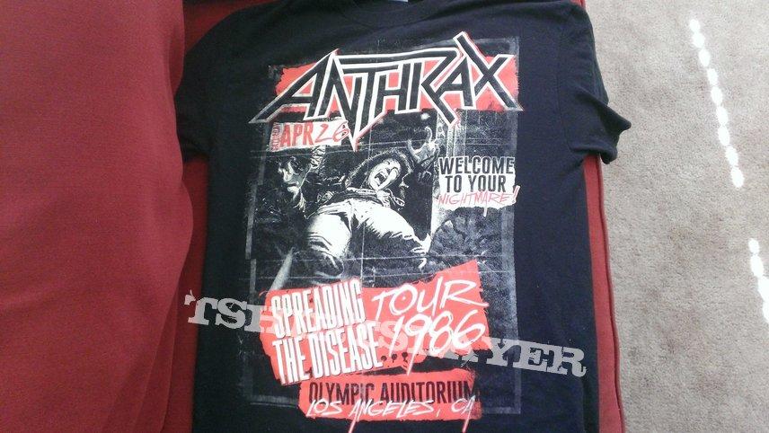 Anthrax: Spreading the Disease/Tour 2016 shirt
